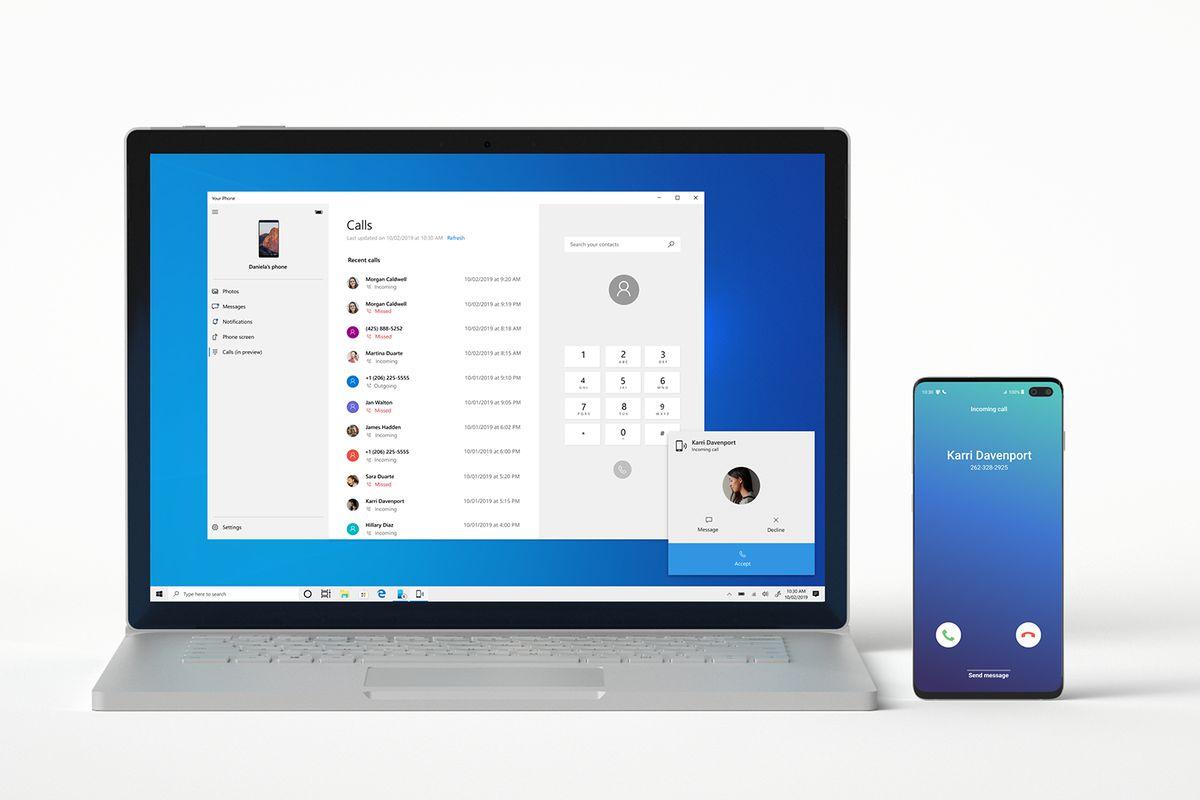 The Verge, Microsoft's Your Phone Companion