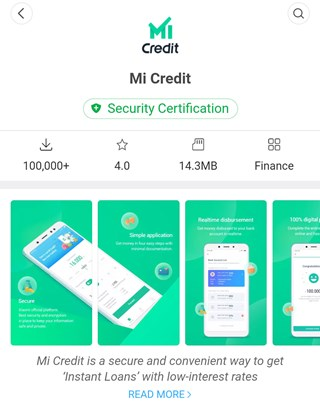 """Xiaomi to launch """"Mi Credit"""" as its personal loan platform in India."""